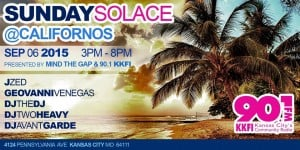 Mind The Gap Presents: SUNDAY SOLACE #5! @ Californos Patio | Kansas City | Missouri | United States