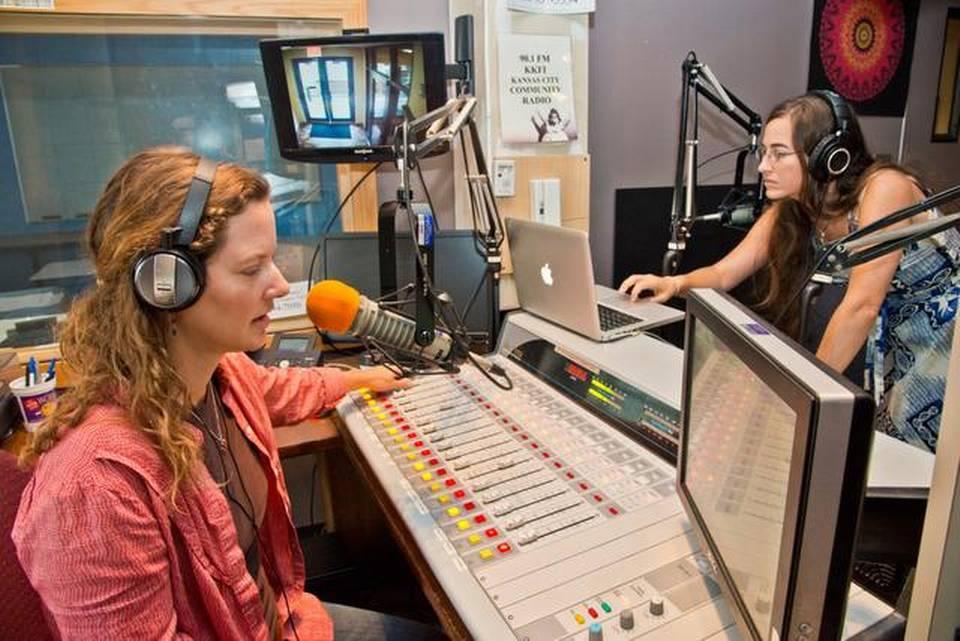 River Trade Radio in the KKFI on-air studio
